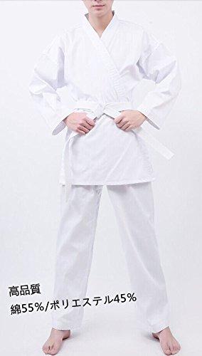 【空手3点セット】空手道着セット(上下+帯)セット 男女兼用 サイズ110~200 (120cm)