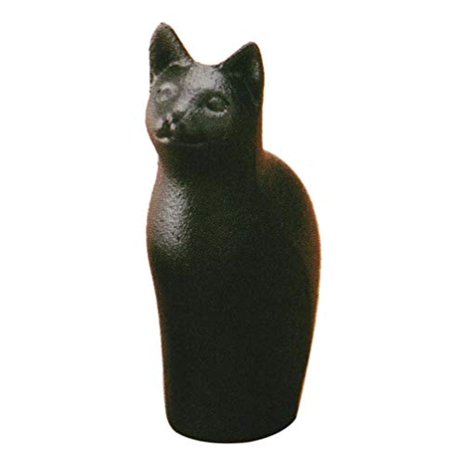 ピュースクラップブックビジネス岩鋳(Iwachu) 黒 3.5×6×(H)8.5cm 南部鉄器 文鎮 すましネコ 30502