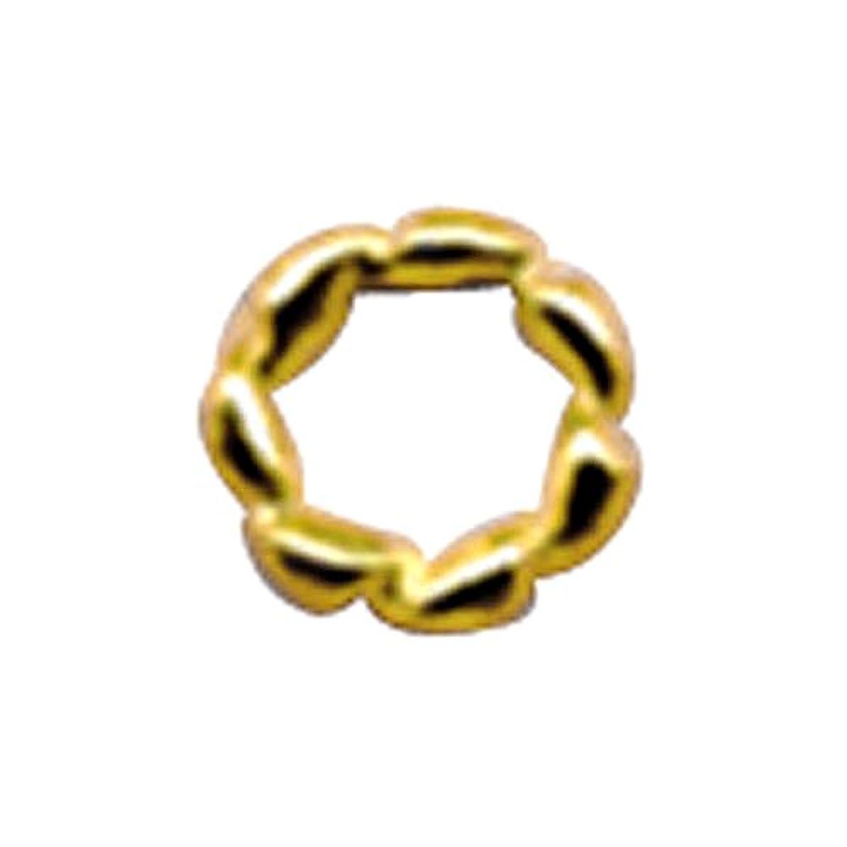 気絶させる一般的な摂氏度プリティーネイル ネイルアートパーツ ツイストリングS ゴールド 15個