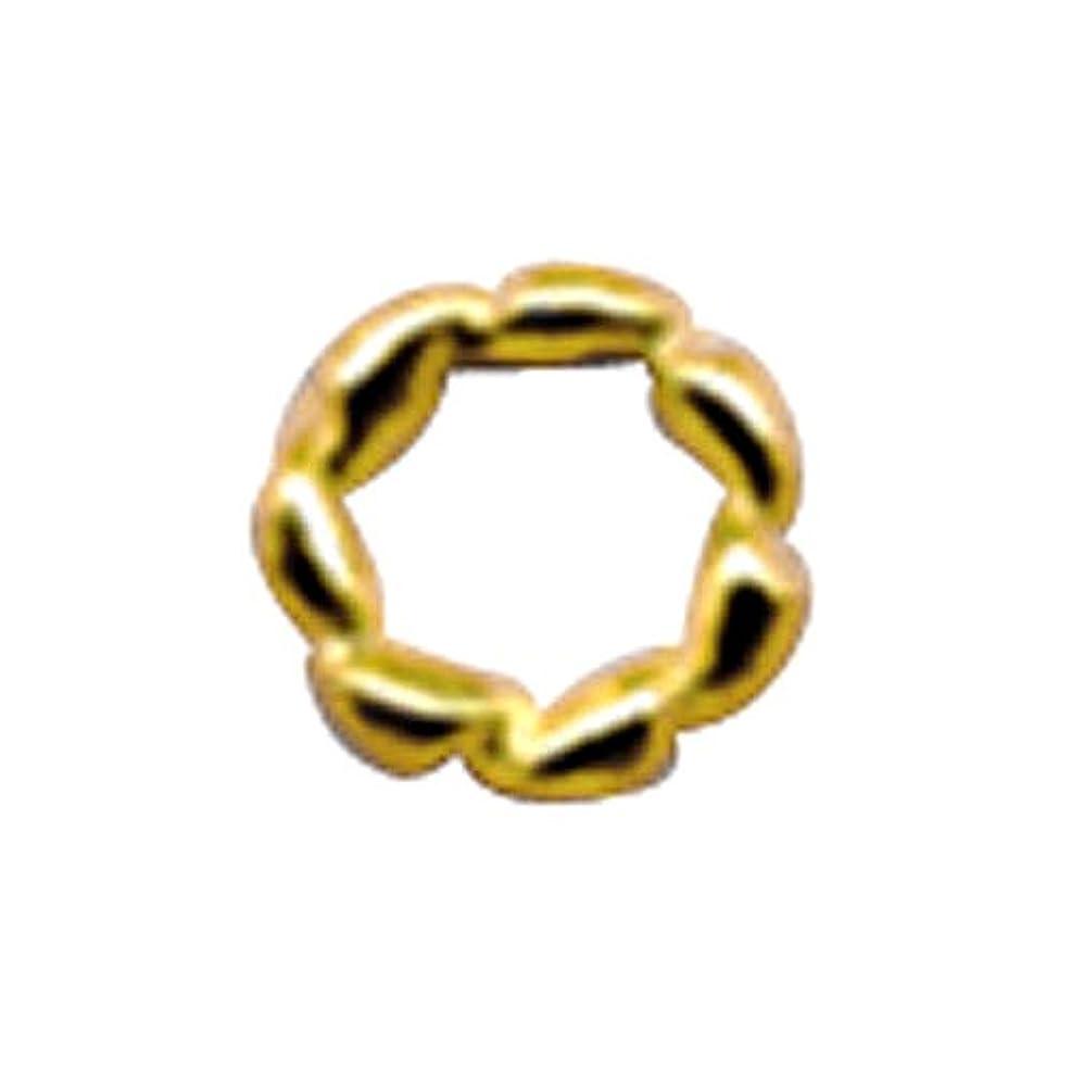 いつテーブルを設定する磁気プリティーネイル ネイルアートパーツ ツイストリングS ゴールド 15個