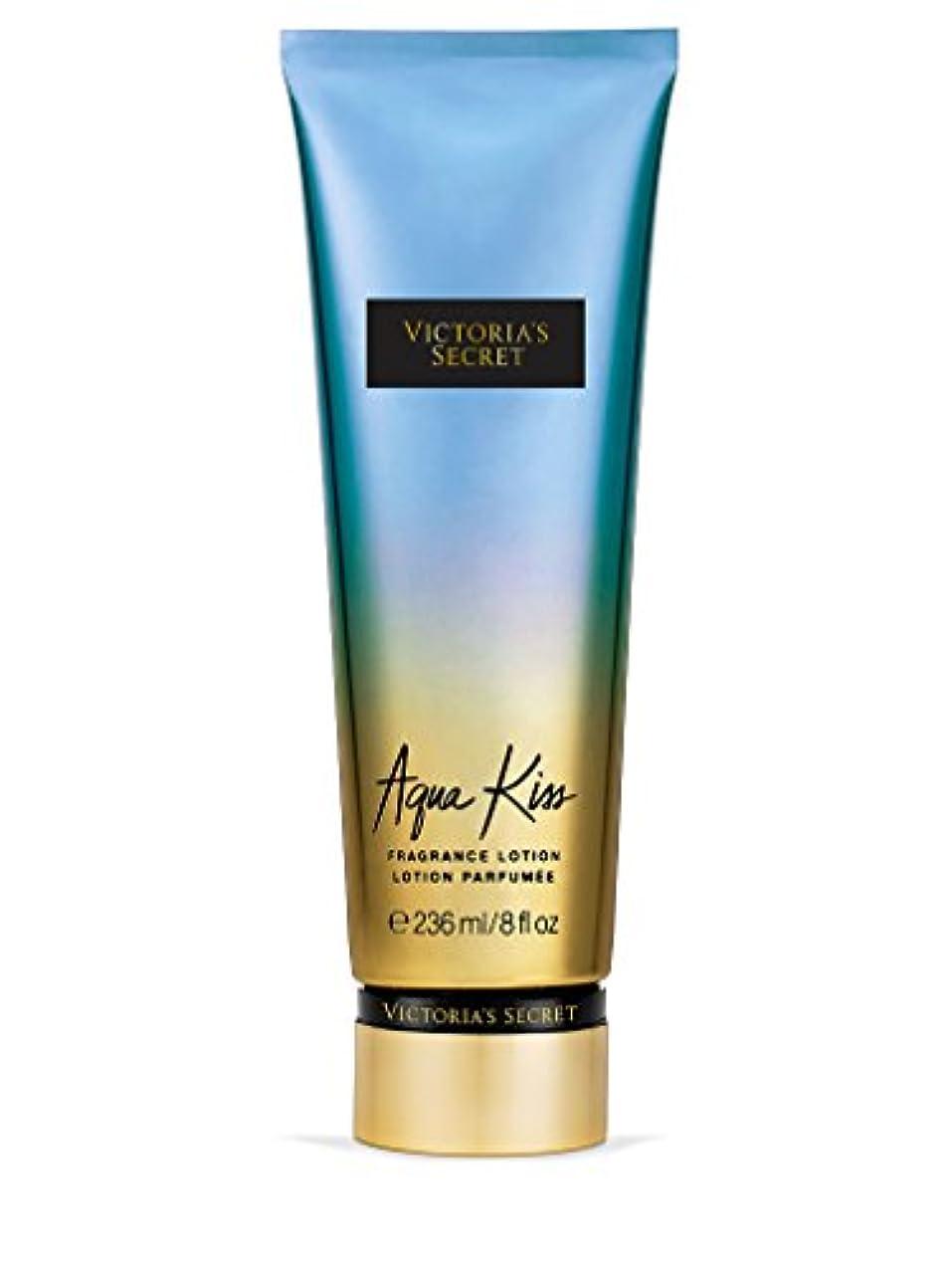 船員吸う衰えるVictoria's Secret ヴィクトリアシークレット Aqua Kiss Fragrance Lotion フレグランス ボディーローション アクアキス 236ml [並行輸入品]