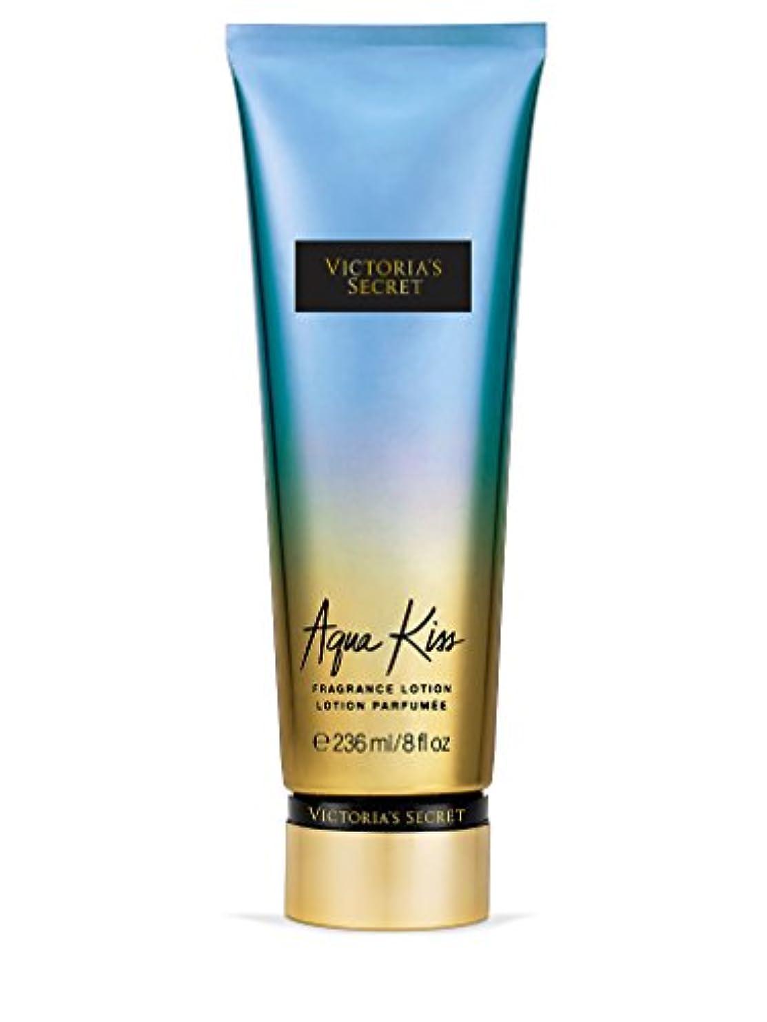 抑圧するかる脈拍Victoria's Secret ヴィクトリアシークレット Aqua Kiss Fragrance Lotion フレグランス ボディーローション アクアキス 236ml [並行輸入品]
