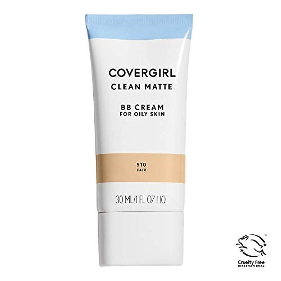 同行するマスク範囲COVERGIRL オイリースキンクリーンマットBBクリーム、フェア510、1オンス(梱包が変更になる場合があります)水ベースのオイルフリーマットフィニッシュBBクリーム
