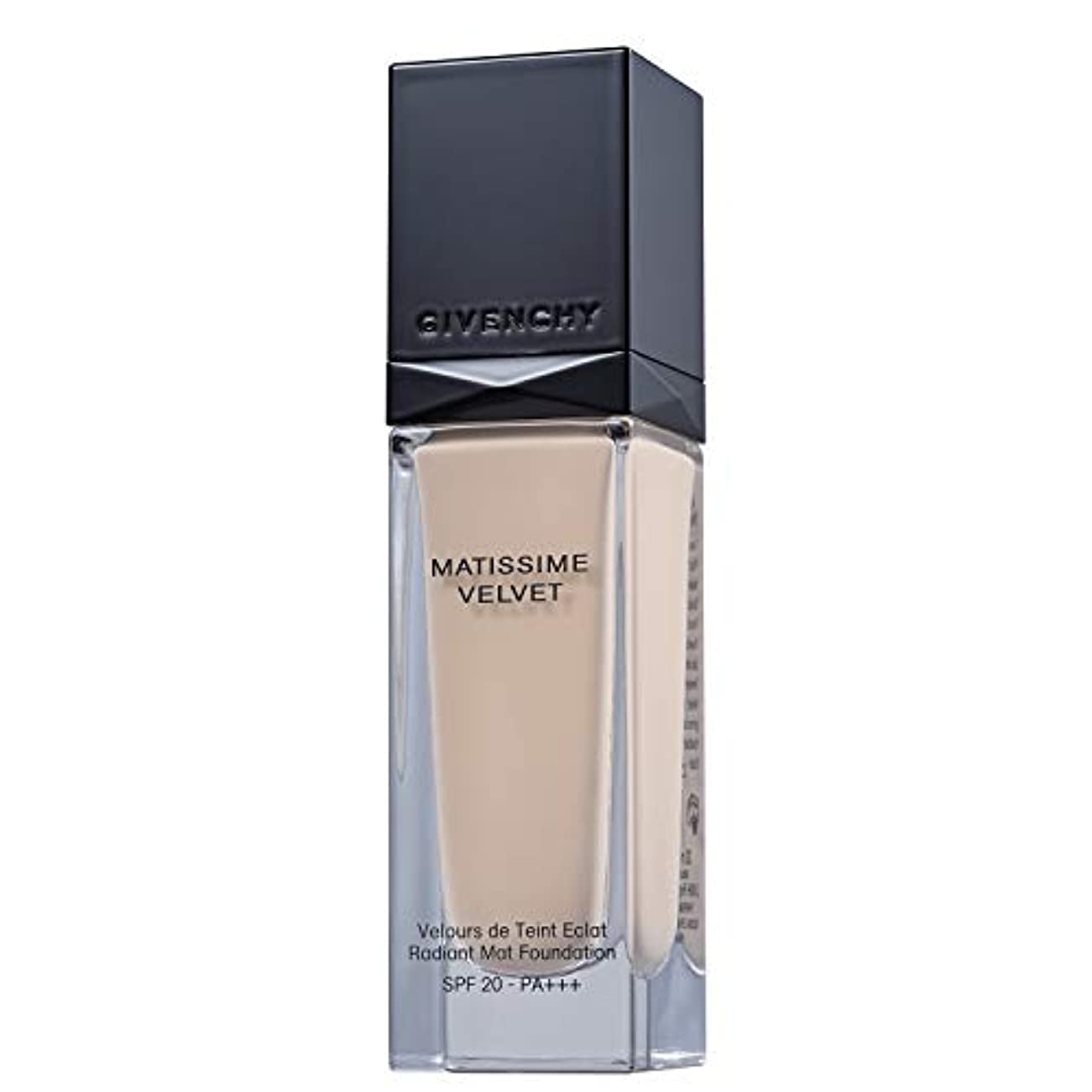 征服者帽子処理するジバンシィ Matissime Velvet Radiant Mat Fluid Foundation SPF 20 - #01 Mat Porcelain 30ml