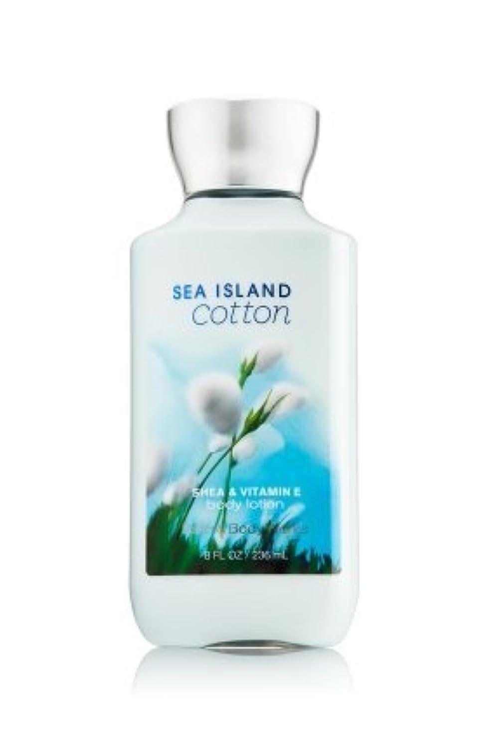 作詞家速い証明【Bath&Body Works/バス&ボディワークス】 ボディローション シーアイランドコットン Body Lotion Sea Island Cotton 8 fl oz / 236 mL [並行輸入品]