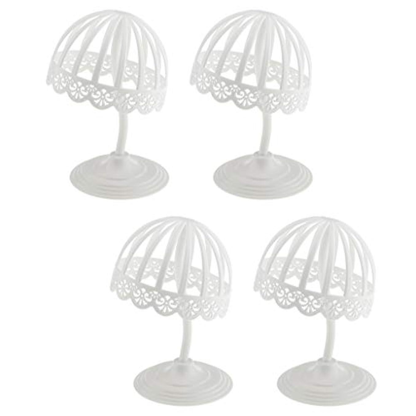 達成可能フレームワーク現実SM SunniMix ウィッグ スタンド 帽子 収納 ディスプレイ 4個セット プラスチック製 ホワイト