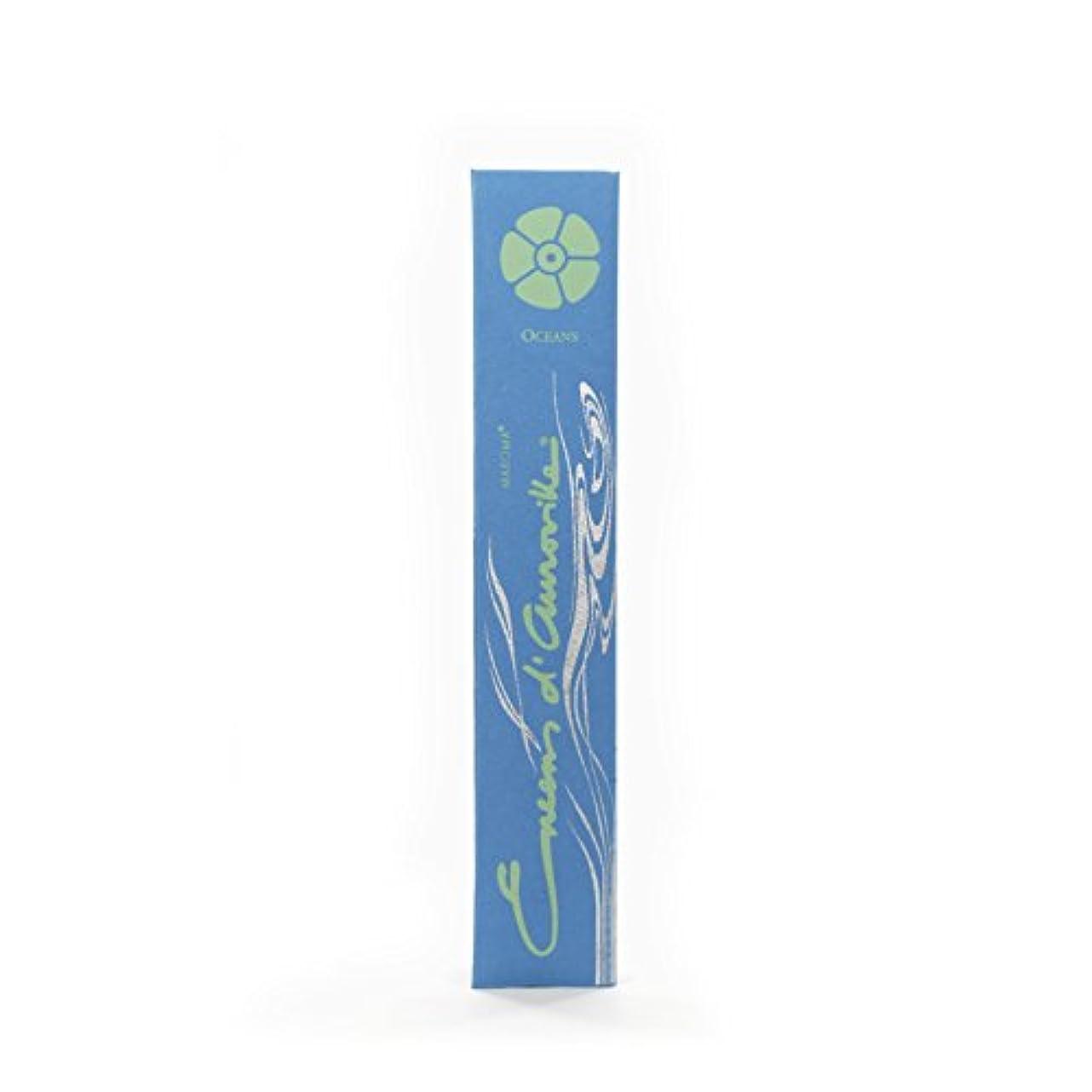 シードバリーハシーMaroma自然Incense Encens d 'auroville Oceans 10 Sticks