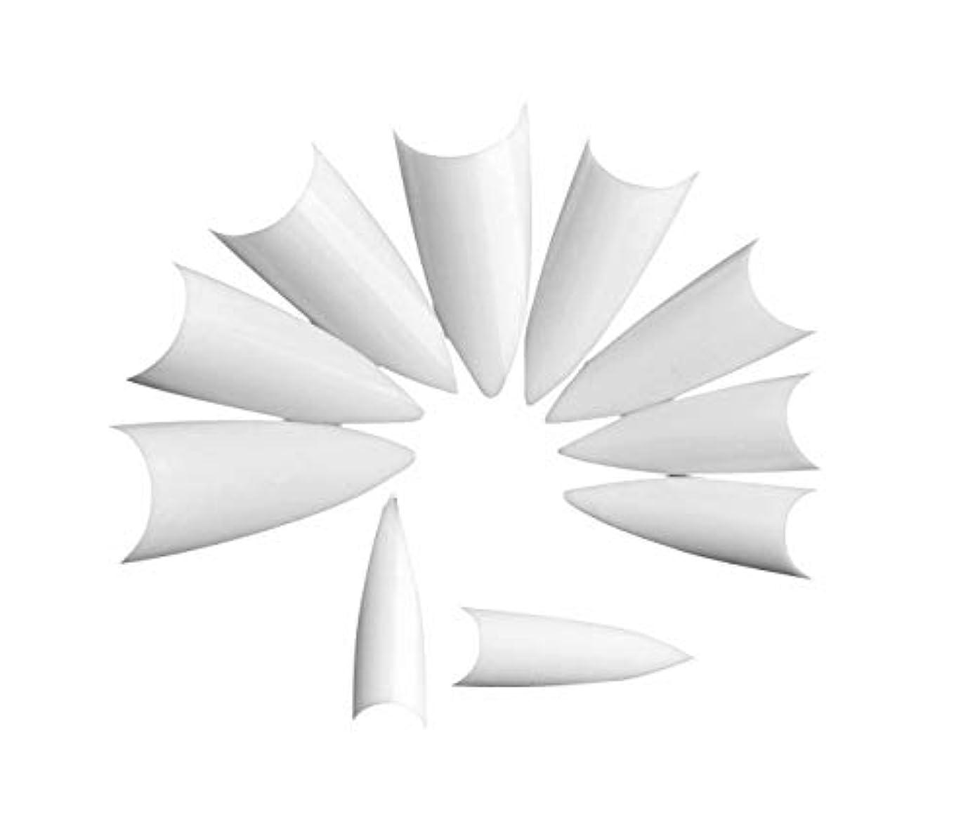 長さ摩擦リスクTianmey フルカバーネイルのヒント女性のための偽の釘ネイルサロンや家庭でのDIYネイルアート用10のサイズ、理想のクリスマスギフトを (Color : White)