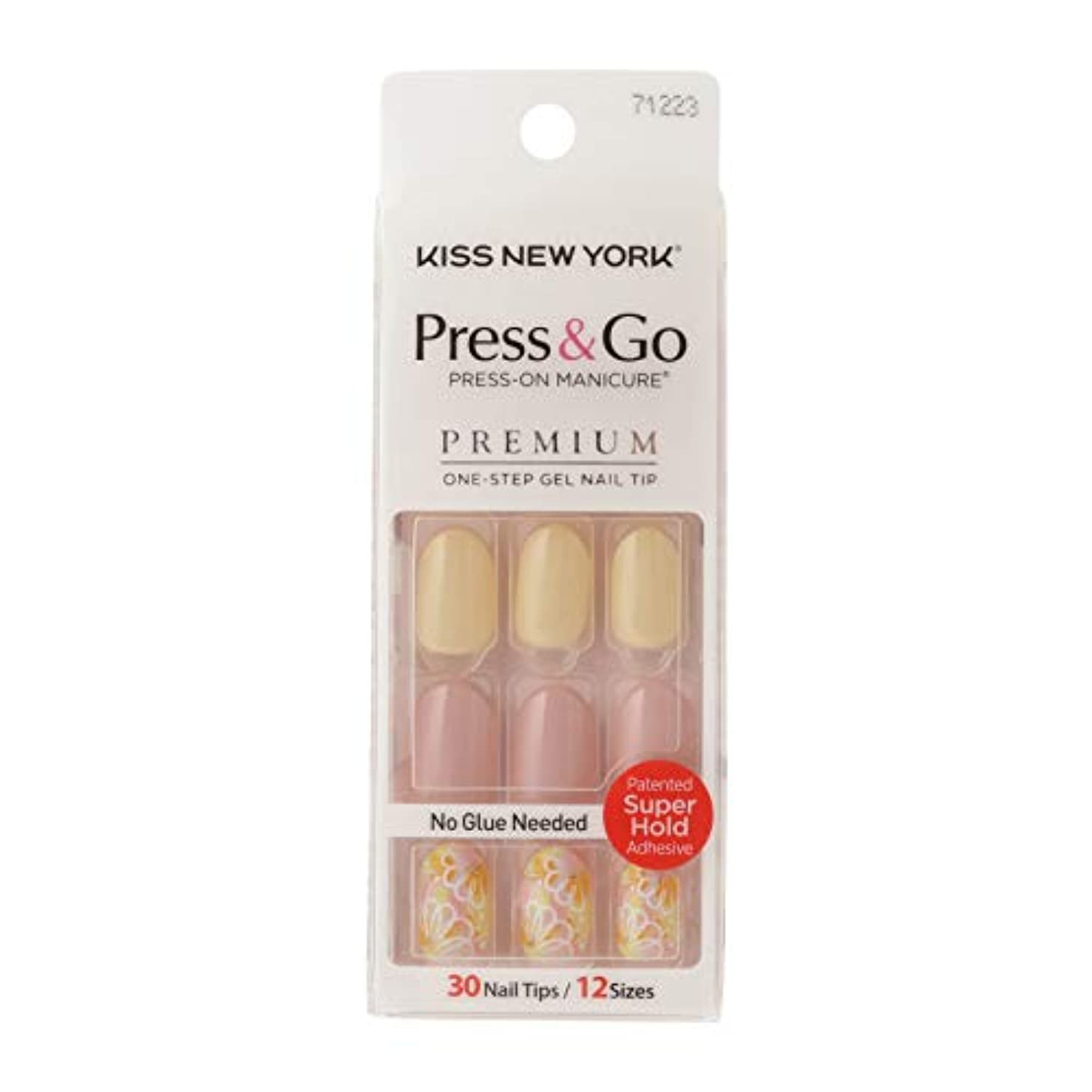 ホイップトリップラックキスニューヨーク (KISS NEW YORK) KISS NEWYORK ネイルチップPress&Go BHJ33J 19g
