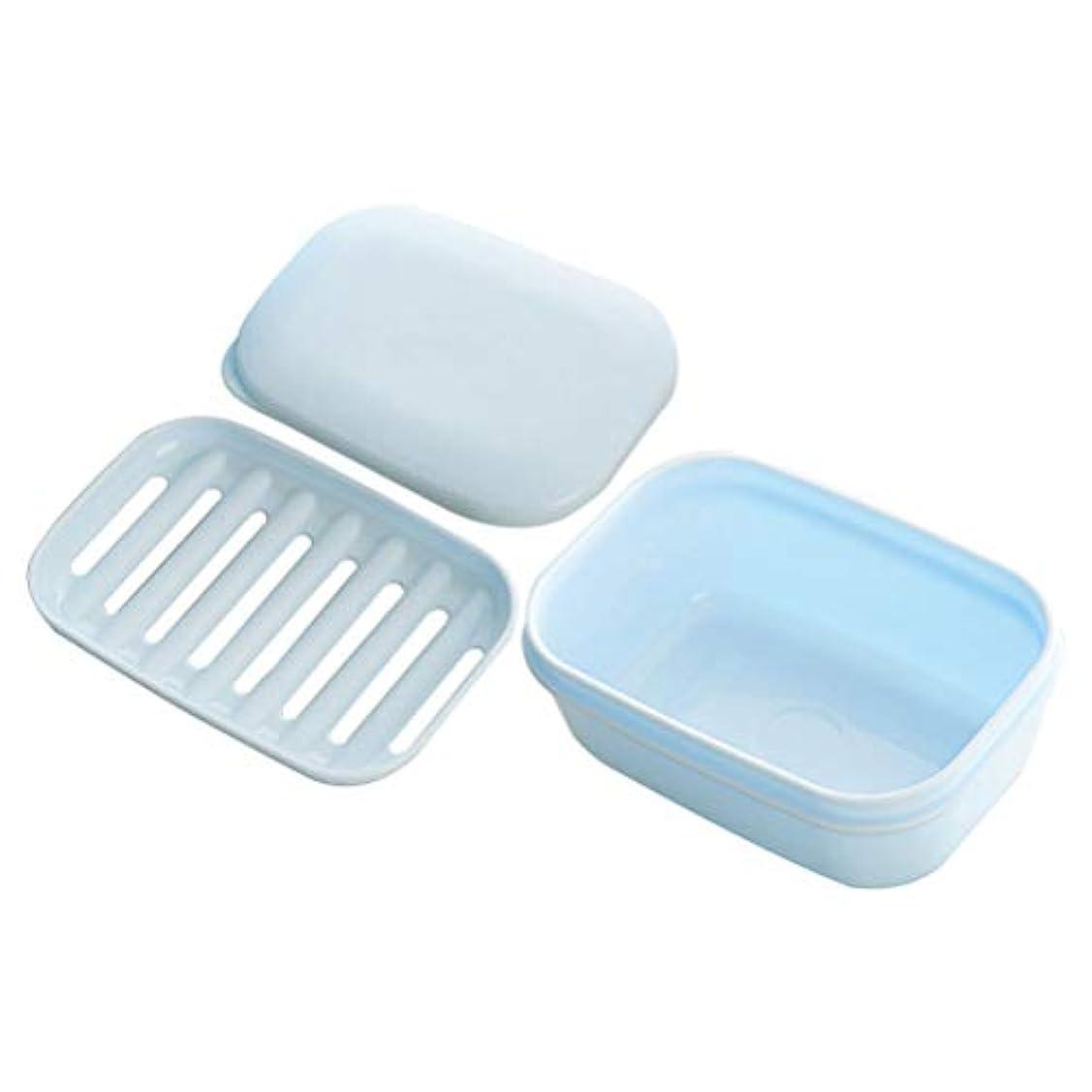 抑圧先祖トランクHealifty バスルームとキッチンのための排水石けんケースの容器と2pcsDouble層の石鹸ボックスの石鹸の皿