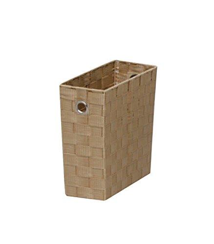 アイリスオーヤマ バスケット ベージュ 幅11.5×奥行26×高さ26cm CBK-11D