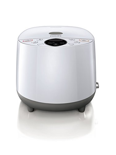 Philips Daily Collection Grain Master Rice Cooker with 24-Hour Preset Timer and Free Recipe Booklet, 4L Capacity, White, HD4514/72