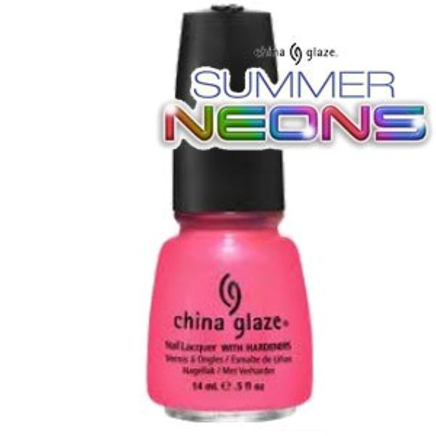 ひそかにパット部分的(チャイナグレイズ)China Glaze Pink Plumeriaーサマーネオン コレクション [海外直送品][並行輸入品]
