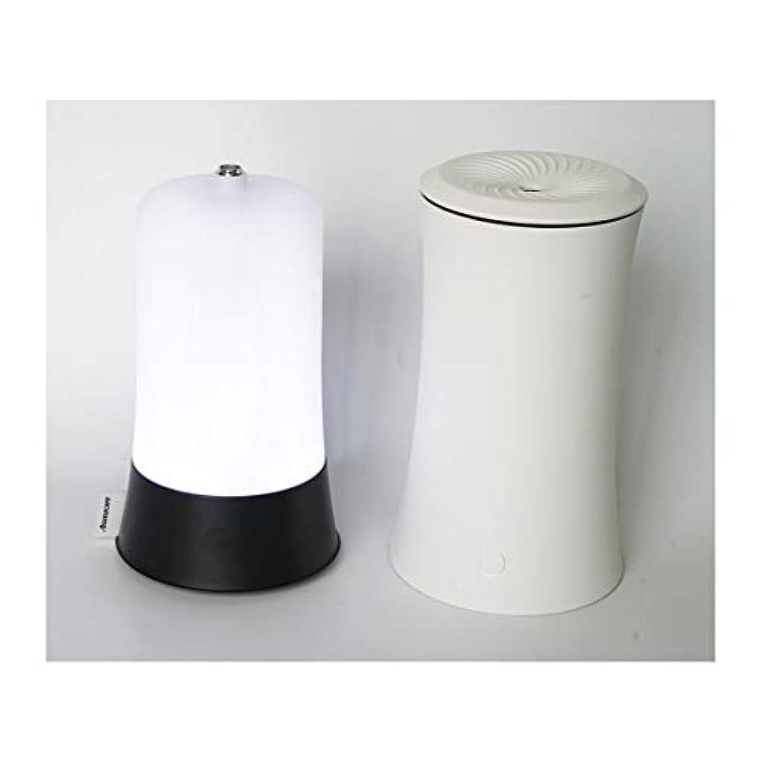 抽象化維持する痴漢ウッドグレイン超音波アロマクールミスト300mlエッセンシャルオイルディフューザー、アロマ加湿器付き、水なしオートシャットオフ、7色LEDライトホームオフィス用ベビーホワイト