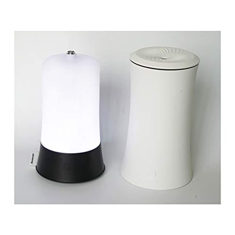 ウッドグレイン超音波アロマクールミスト300mlエッセンシャルオイルディフューザー、アロマ加湿器付き、水なしオートシャットオフ、7色LEDライトホームオフィス用ベビーホワイト