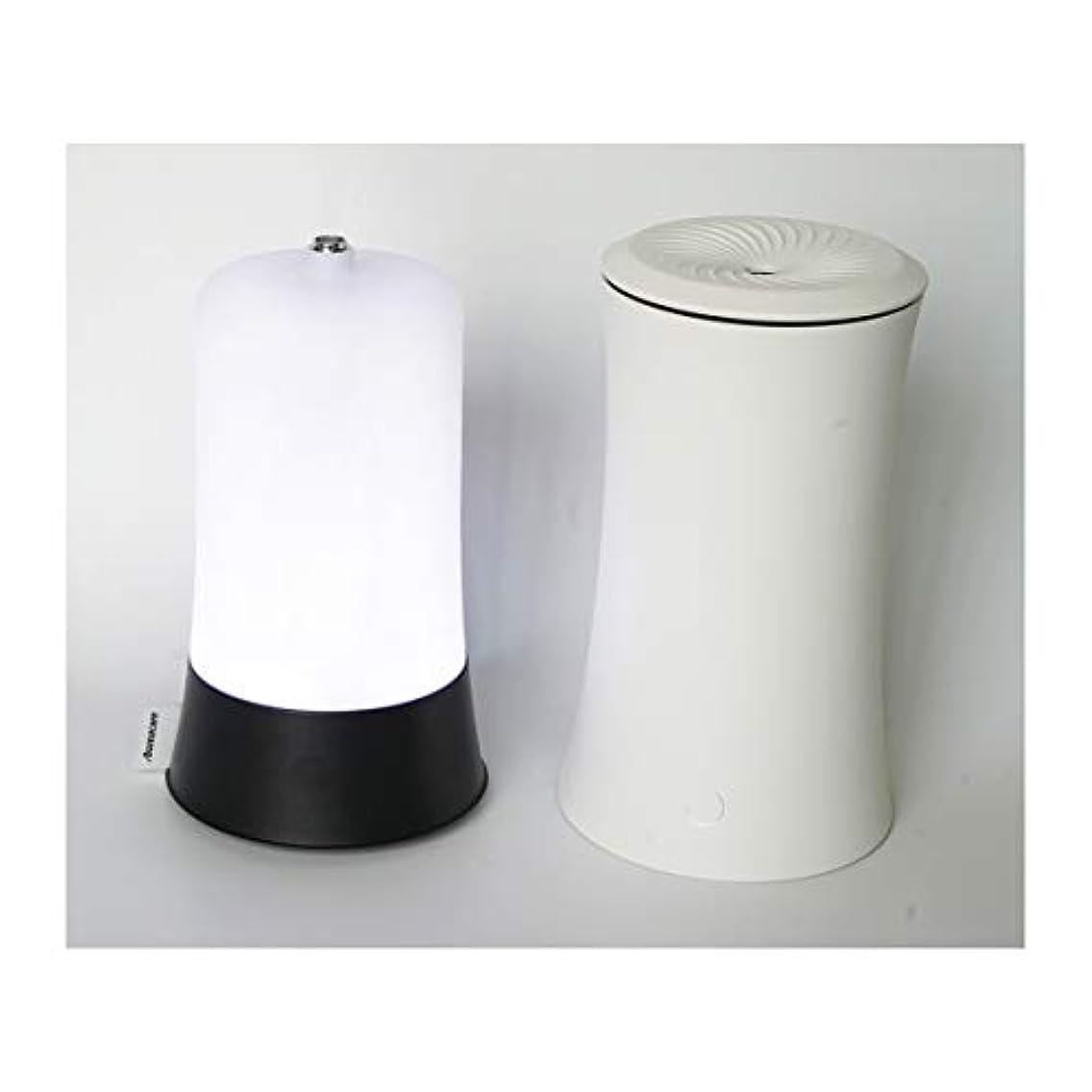 偶然のドール保証するウッドグレイン超音波アロマクールミスト300mlエッセンシャルオイルディフューザー、アロマ加湿器付き、水なしオートシャットオフ、7色LEDライトホームオフィス用ベビーホワイト