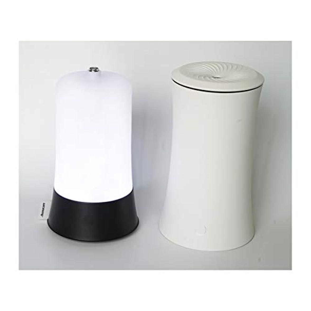 言い直す路地規定ウッドグレイン超音波アロマクールミスト300mlエッセンシャルオイルディフューザー、アロマ加湿器付き、水なしオートシャットオフ、7色LEDライトホームオフィス用ベビーホワイト