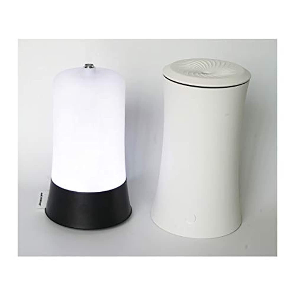 クーポン散るリスキーなウッドグレイン超音波アロマクールミスト300mlエッセンシャルオイルディフューザー、アロマ加湿器付き、水なしオートシャットオフ、7色LEDライトホームオフィス用ベビーホワイト