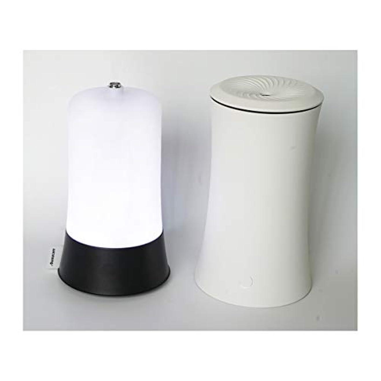 溶接余剰リブウッドグレイン超音波アロマクールミスト300mlエッセンシャルオイルディフューザー、アロマ加湿器付き、水なしオートシャットオフ、7色LEDライトホームオフィス用ベビーホワイト