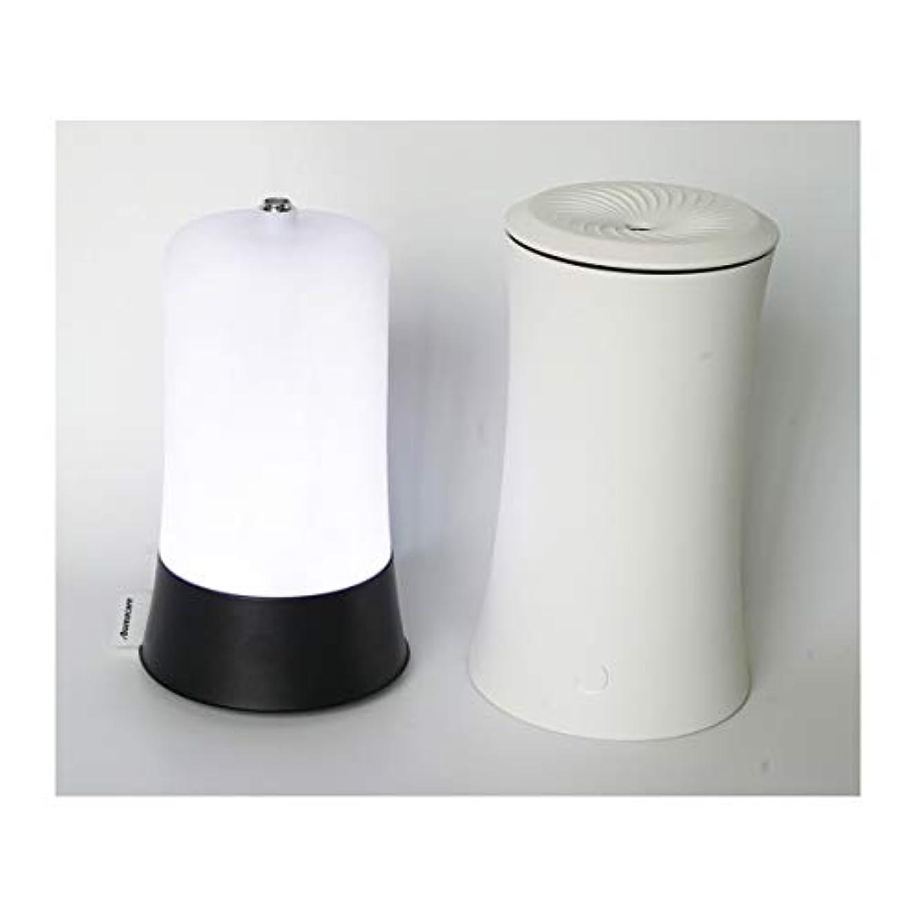 ニコチン豊富な再びウッドグレイン超音波アロマクールミスト300mlエッセンシャルオイルディフューザー、アロマ加湿器付き、水なしオートシャットオフ、7色LEDライトホームオフィス用ベビーホワイト