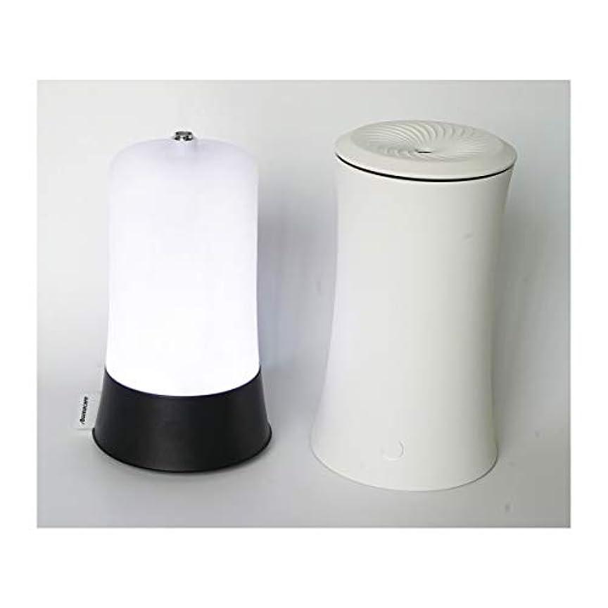 有用足首分注するウッドグレイン超音波アロマクールミスト300mlエッセンシャルオイルディフューザー、アロマ加湿器付き、水なしオートシャットオフ、7色LEDライトホームオフィス用ベビーホワイト