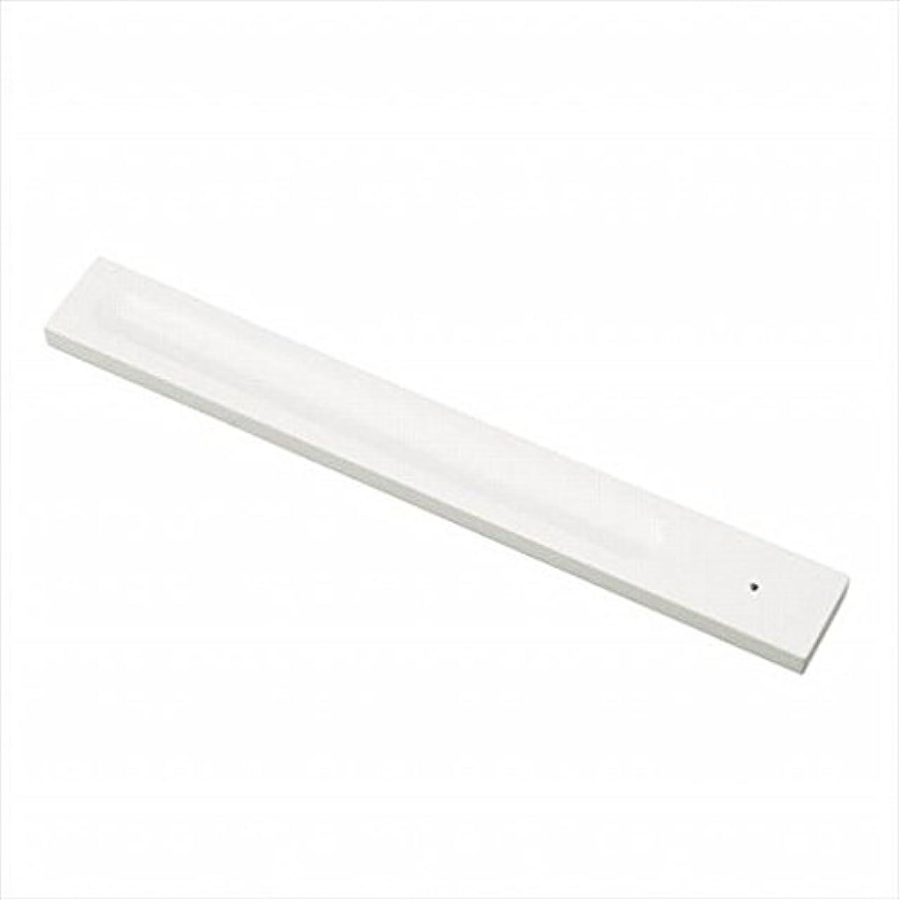 媒染剤余韻役立つkameyama candle(カメヤマキャンドル) バンブーインセンス用ホルダースクエア 「 ホワイト 」 キャンドル 30x246x9mm (E3130000W)