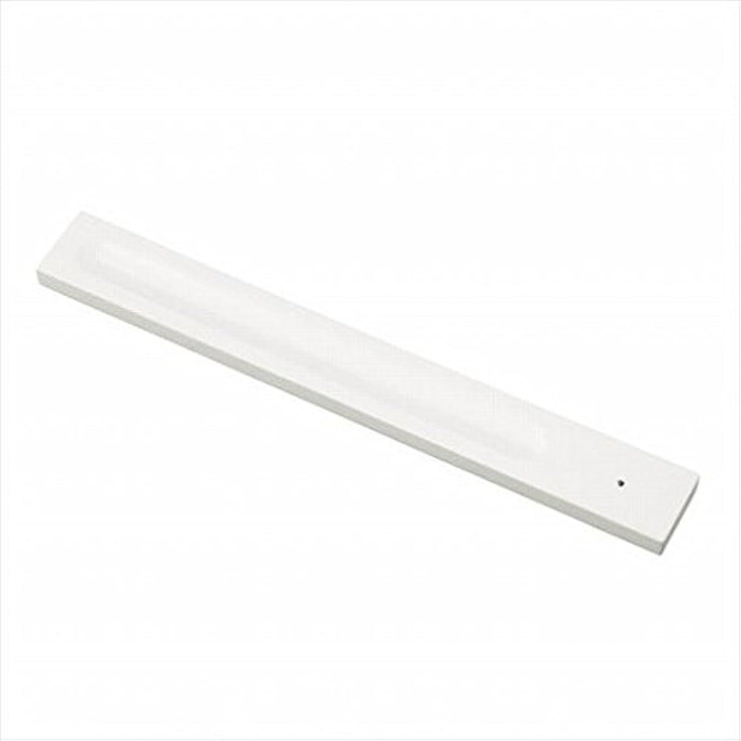 処方形式奇妙なkameyama candle(カメヤマキャンドル) バンブーインセンス用ホルダースクエア 「 ホワイト 」 キャンドル 30x246x9mm (E3130000W)