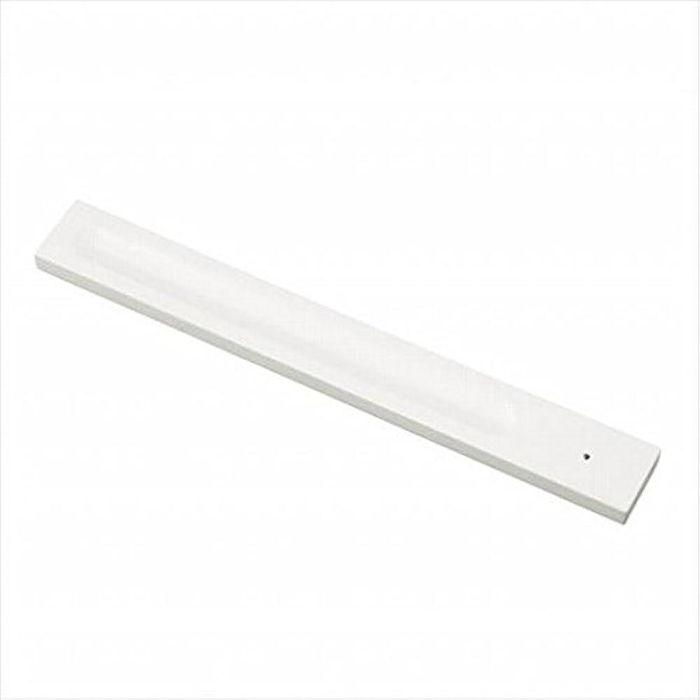 考える摘む悪用kameyama candle(カメヤマキャンドル) バンブーインセンス用ホルダースクエア 「 ホワイト 」 キャンドル 30x246x9mm (E3130000W)