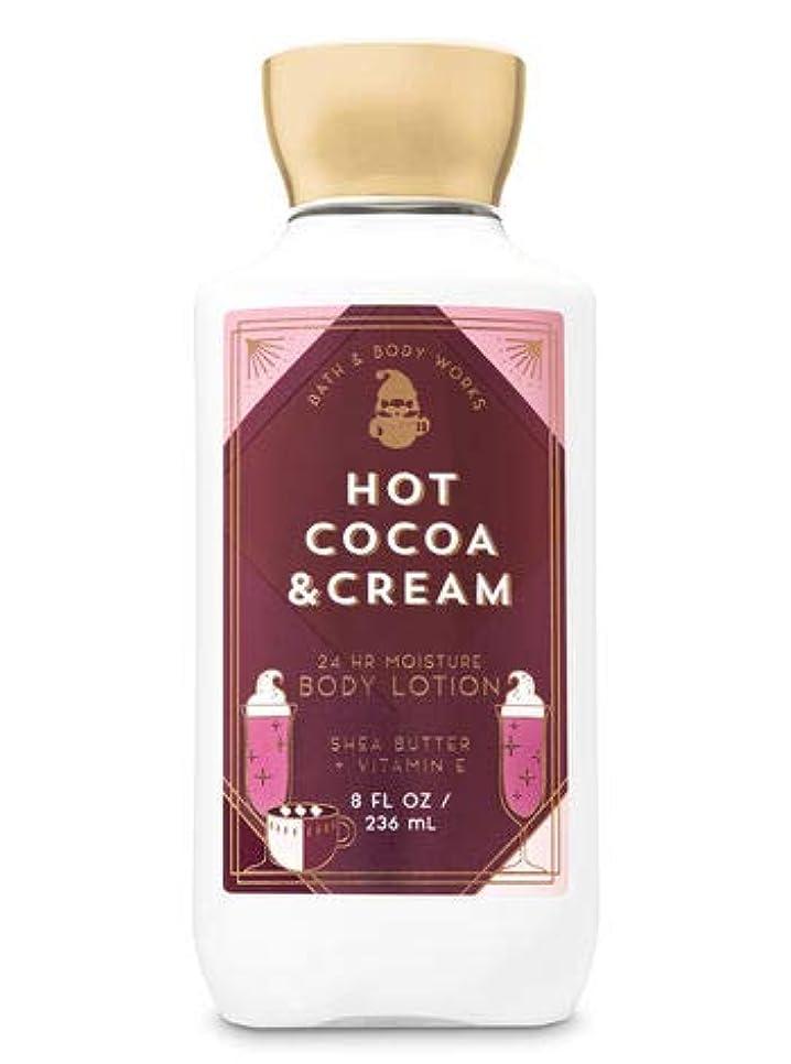 ボンドもつれ代数【Bath&Body Works/バス&ボディワークス】 ボディローション ホットココア&クリーム Super Smooth Body Lotion Hot Cocoa & Cream 8 fl oz / 236 mL...