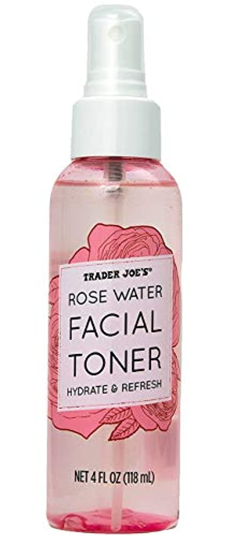 議会強大な外向きトレーダージョーズ TRADER JOE'S ローズウォーター フェイシャルトナー 化粧水 スプレー コスメ 美容 リフレッシュ 118mL