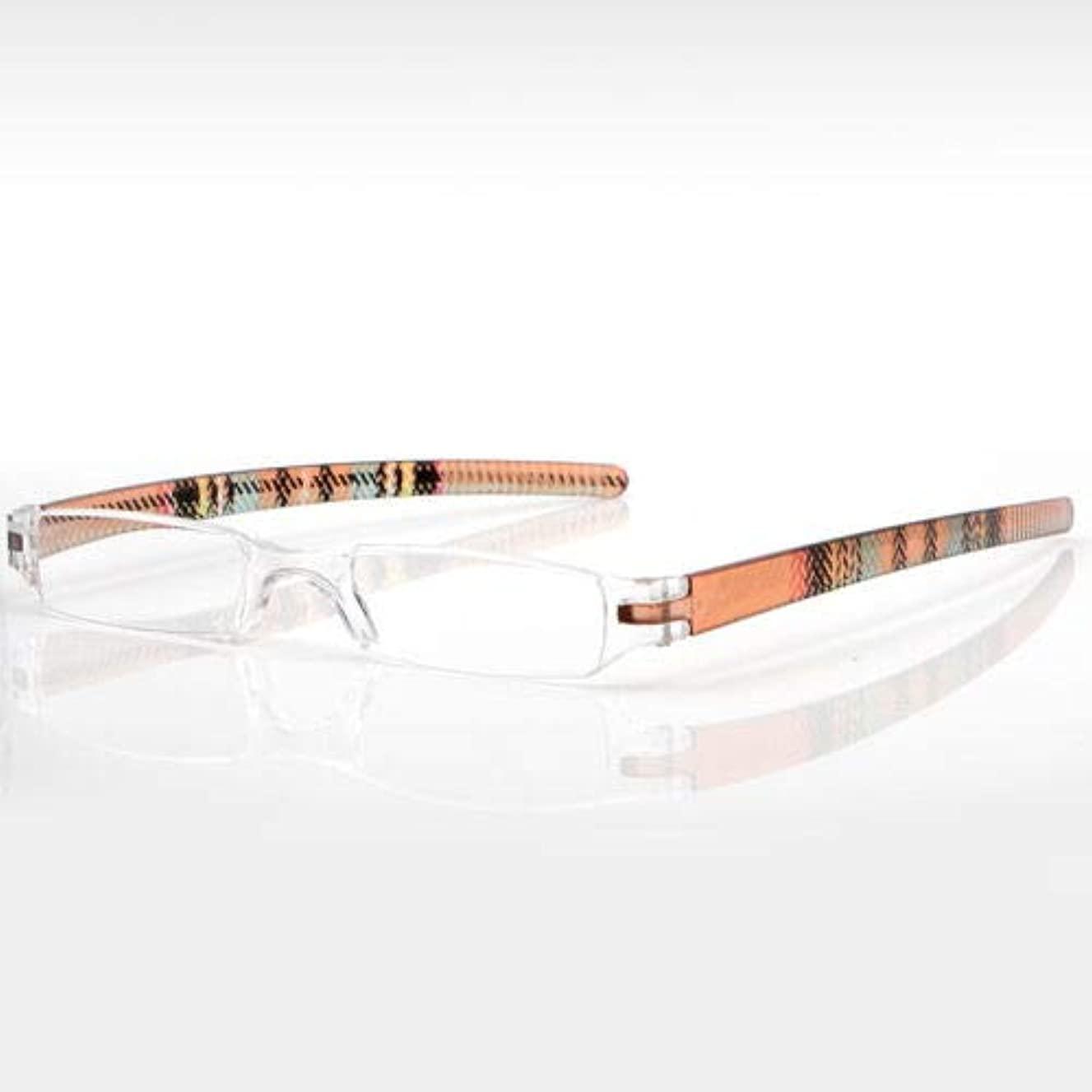 FidgetGear 1Xスリムファッションミニ男性女性老眼鏡フレーム+ 1.00?+ 4.00 褐色