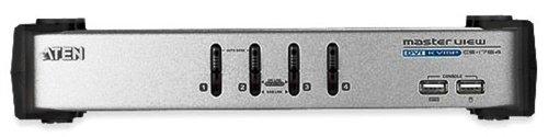 ハイパーツールズ ATEN  1対4 CPU切替器 DVI/USB キーボード&マウス/スピーカ/マイク対応 CS-1764