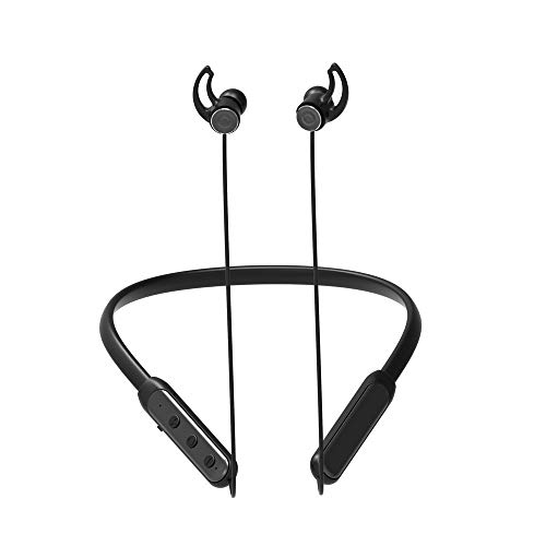 MP3/Bluetoothイヤホン/8G USBメモリ機能内蔵でスマートフォンなしでも音楽再生可能ポータブルオーディオ高音質スポーティーヘッドホンSiri対応マグネット低音重視搭載 CVC6.0 防水進化型IPX6 ヘッドホン (ブラック)