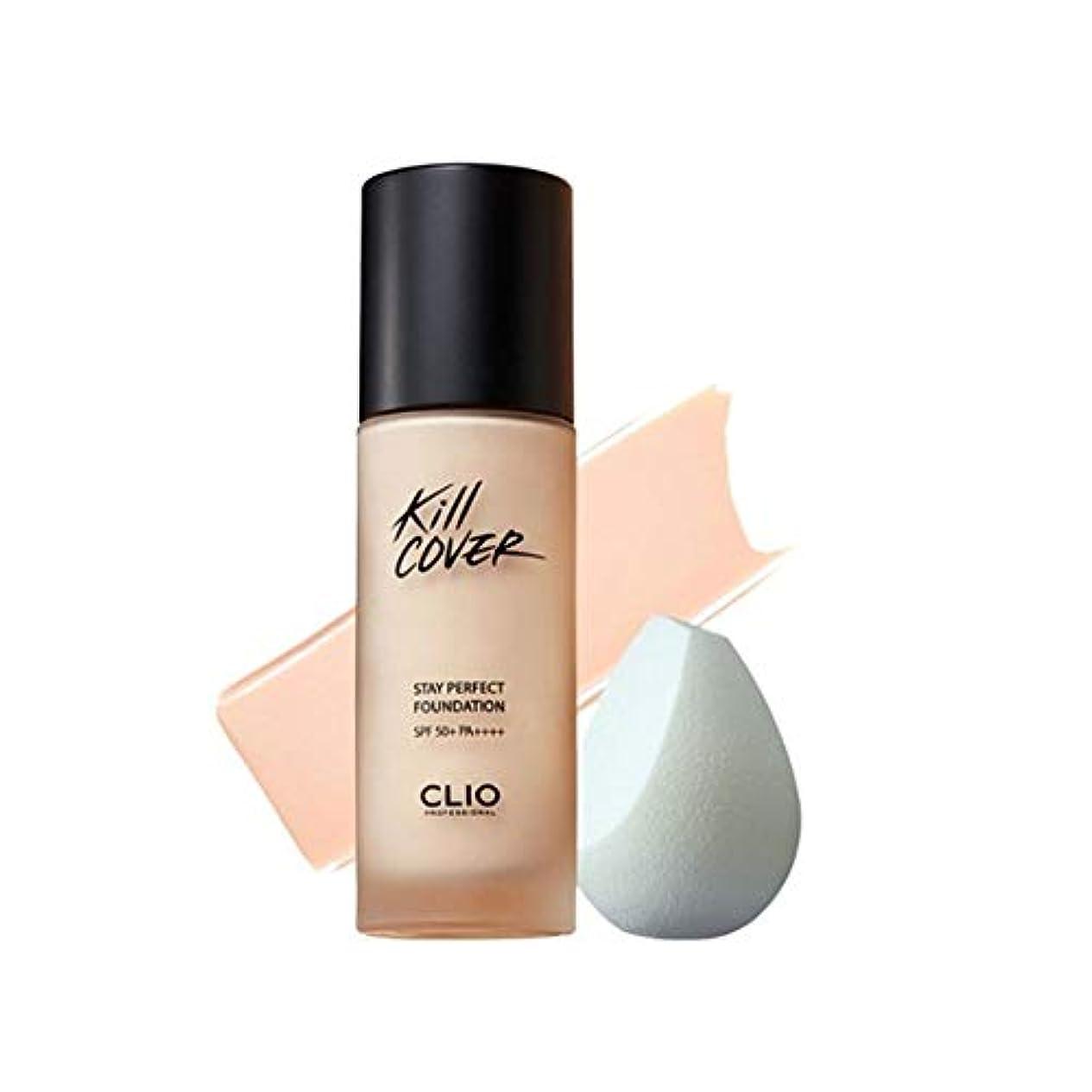 聴くメールグローバルクリオキルカバーステイパーフェクトファンデーション 35g 4カラー 韓国コスメ、Clio Kill Cover Stay Perfect Foundation 35g 4 Colors Korean Cosmetics...