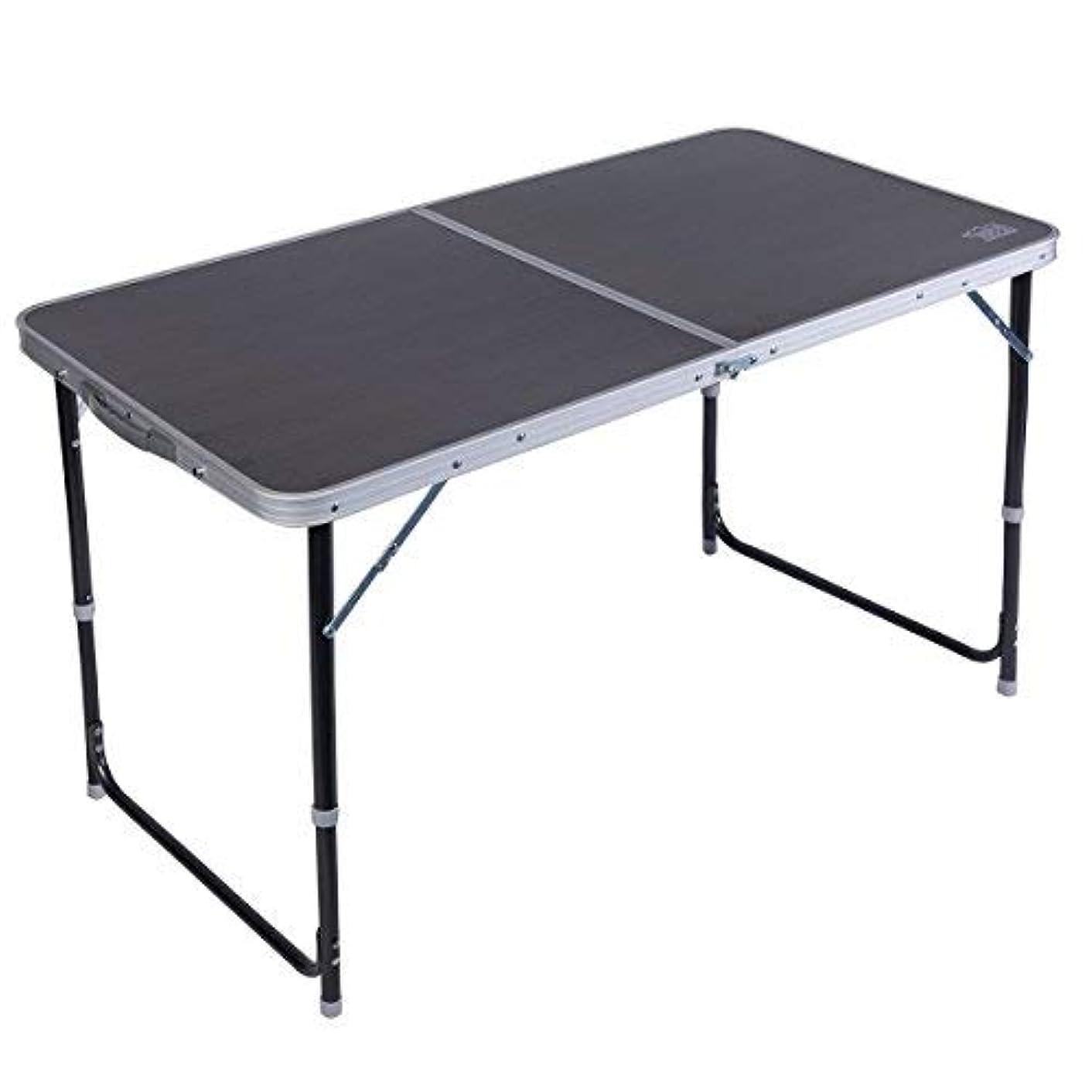 残り物昇るが欲しいTimber Ridge Adjustable Height Portable Lightweight Folding Utility Outdoor Camping Table [並行輸入品]