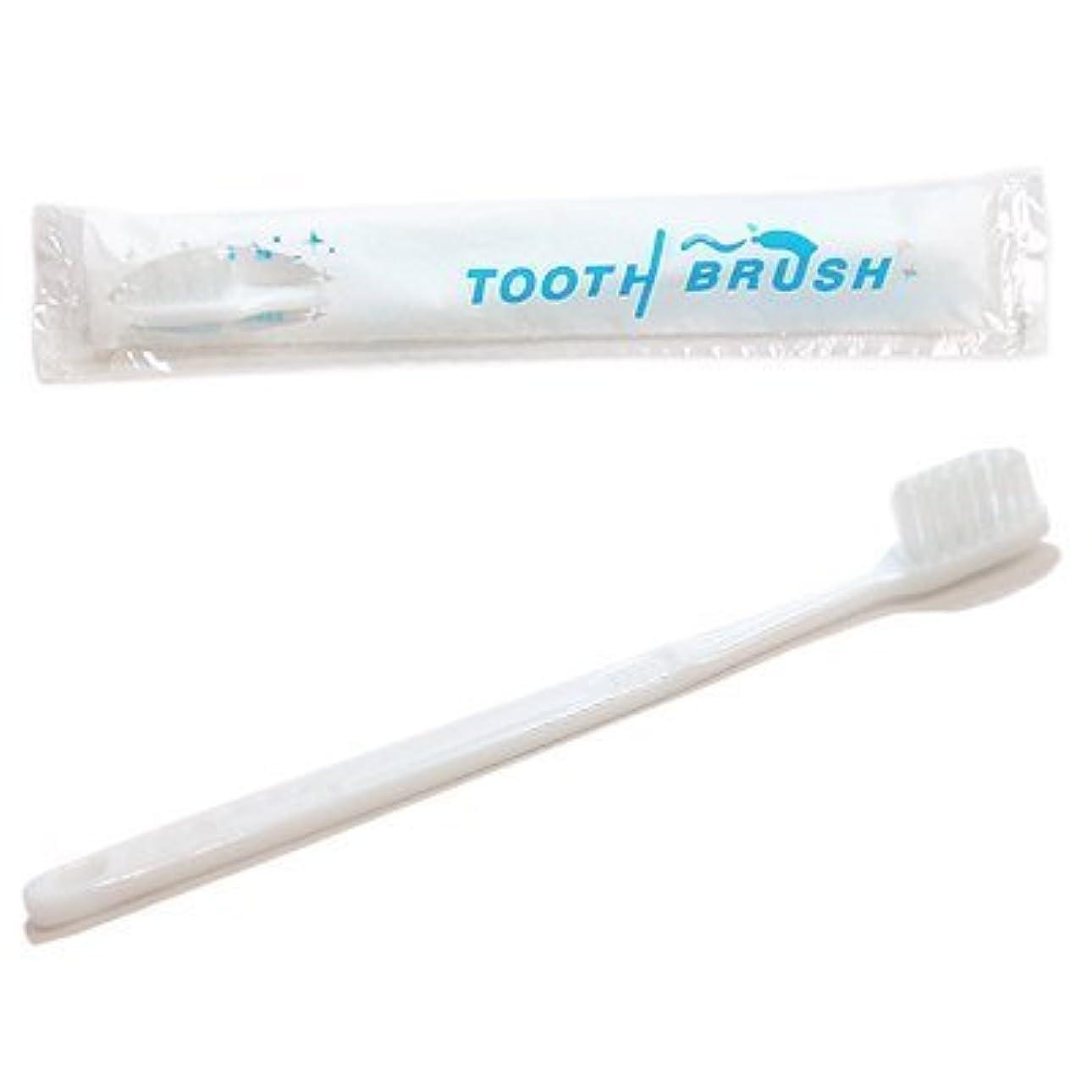 有力者冗長結紮使い捨て 粉付き歯ブラシ ケース売り (200本入り)