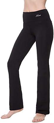 """Yoga Pants Women Best Black Leggings Straight Leg 28""""/30""""/32""""/34"""" Inseam Length"""