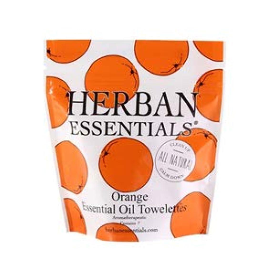 親ケーブルカー実業家ハーバンエッセンシャルズ HERBAN ESSENTIALS アロマタオル ミニ オレンジ 7包 [並行輸入品]