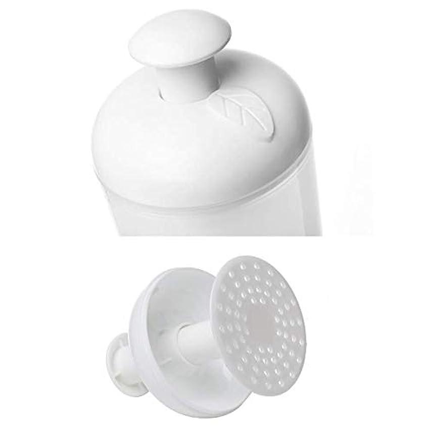 伝統ルーチン繊細洗顔泡立て器 マイクロバブルフォーマー 2個セット ホワイト