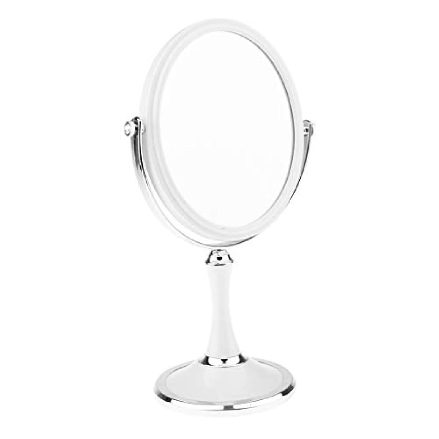 法律隣接ペルーCUTICATE 両面化粧鏡 化粧ミラー 化粧鏡 メイクミラー 拡大鏡 2色選択 - 楕円形