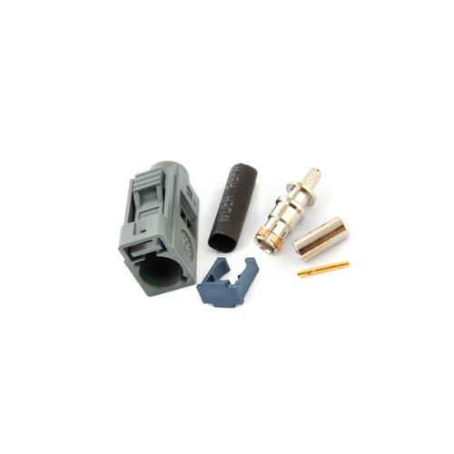 [해외]Superbat 5 개들이 Fakra 잭 커넥터 압착 타입 RG316 | RG174 | LMR100 대응 그레이/Superbat 5 pcs Fakra jack connector crimp type RG 316 | RG 174 | LMR 100 compatible gray