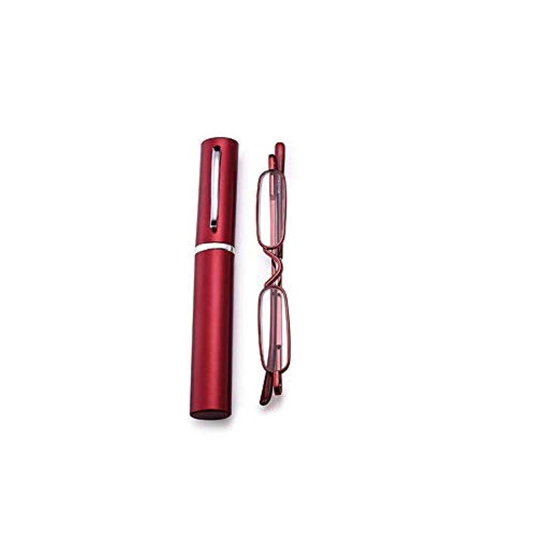 ACHICOO 老眼鏡 ポータブル スリム ミニ メタル リーディング メガネ リーダー メガネ フレーム 200