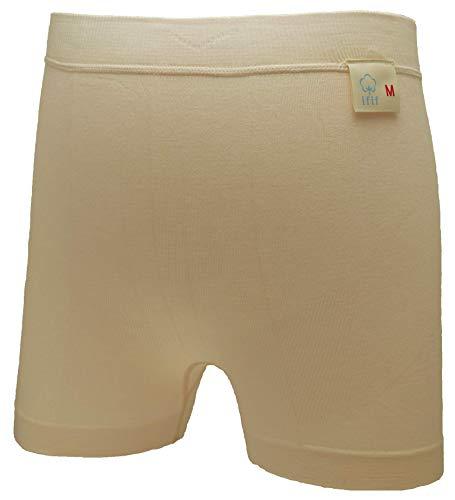 【Claracare】パッドホルダーパンツ「イフ・イフ」 紙製パッドを入れて使うパンツ (LL, アイボリー)