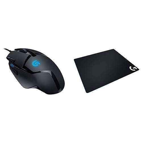 ゲーミングマウス ロジクール G402 DPI切り替えボタン プログラム可能ボタン ファイナルファンタジー XIV Windows版 推奨周辺機器 + LOGICOOL ロジクール G640r ラージ クロス ゲーミング マウスパッド セット