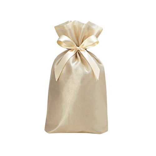 包む ラッピング袋 巾着 ノーブル シャンパンゴールド L T-2845-L