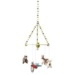 ペア Pehr モビール メリー ベッドメリー おもちゃ 北欧風デザイン ハンドメイド Woodland Creatures