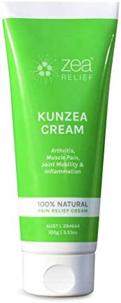 Zea Relief Kunzea Cream - 100% Natural Pain Relief Cream. May help to relieve Arthritis, Osteoarthritis, Muscle Pain, Joint