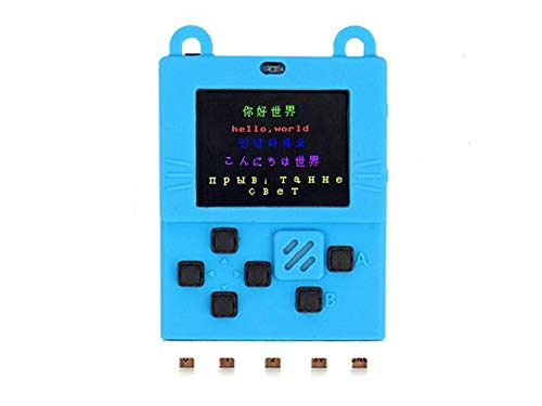 NGW-1pc Kittenbot Meowbit - Card-sized Graphical Retro Game Computer - blue-w/battery