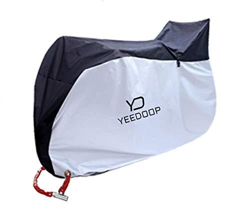 Yeedoop®自転車カバー 子供乗せ 自転車カバー前後子供乗せ対応 サイクルカバー 風飛び防止 防水 防塵 耐熱 鍵穴盗難防止 厚手 210D 撥水加工 UVカット 29インチまで対応 収納袋付き
