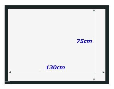 ネクシード(nexeed) ポータブル 100インチ 84インチ 60インチ 16:9 プロジェクター スクリーン (60インチ)